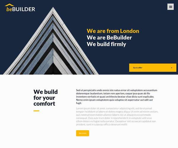 Builder Website Theme