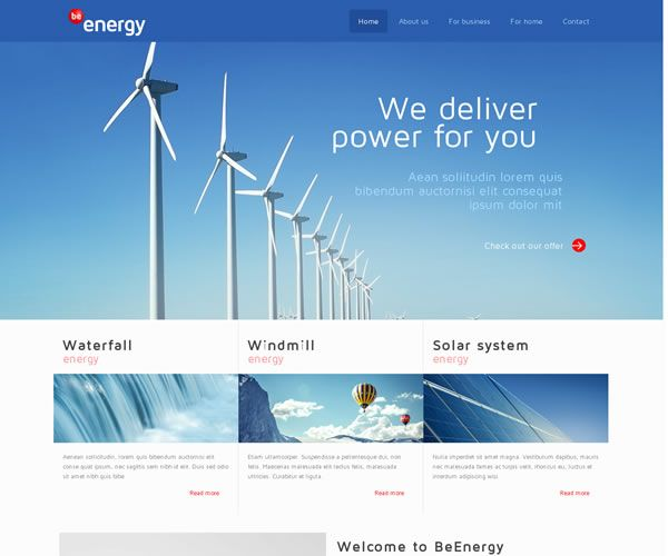 Energy Website Theme