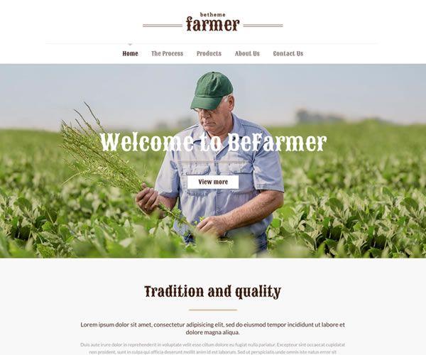 Farmer Website Theme