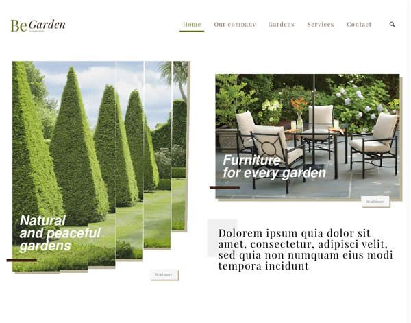 Garden Website Theme