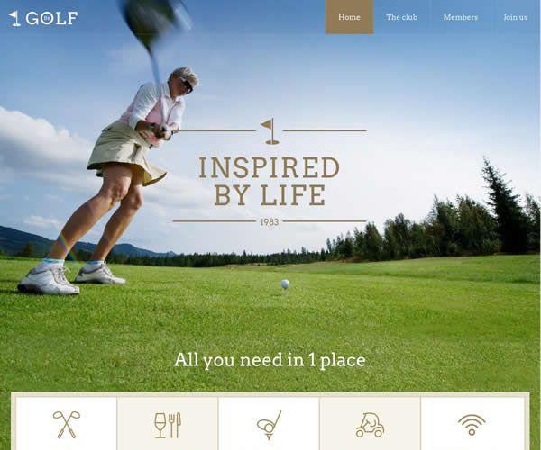 Golf Website Theme