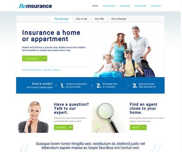 Insurance Company Website Theme
