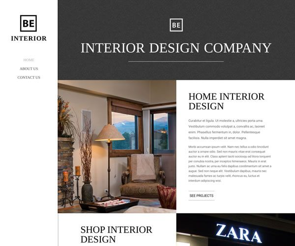 Interior Website Theme
