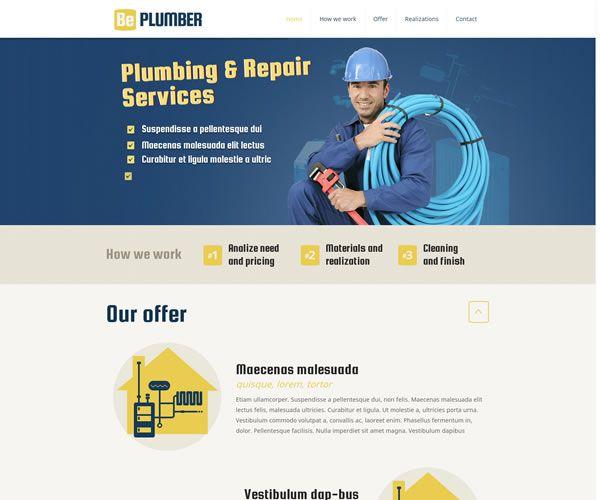 Plumber Website Theme