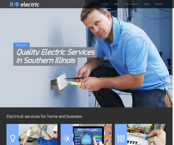 Electric Company Website Theme