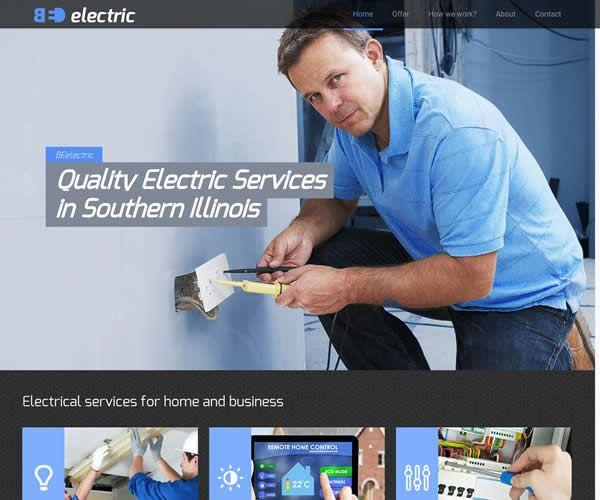 Electric Company Website Theme