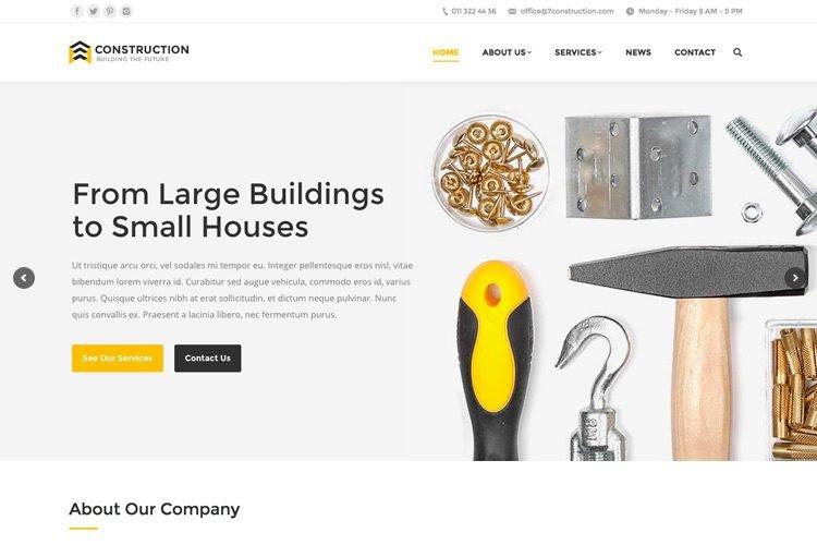 Construction Website Demo
